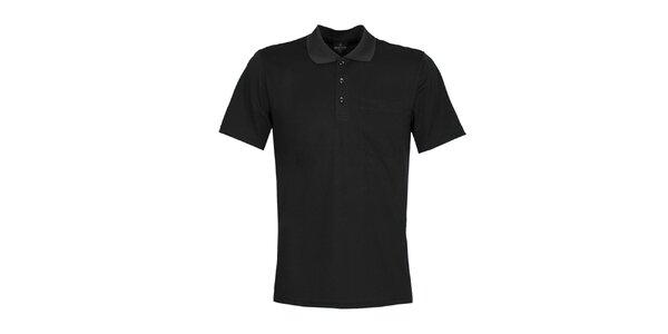 Pánske čierne polo tričko Bergson