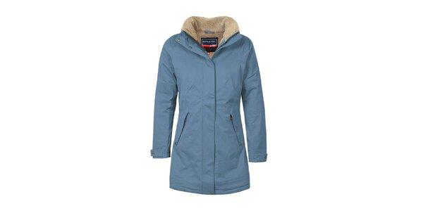 Dámsky modrý funkčný kabát s podšívkou Bergson