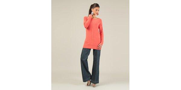 Dámsky korálový sveter s prekrýženým chrbtom Lili Lovely
