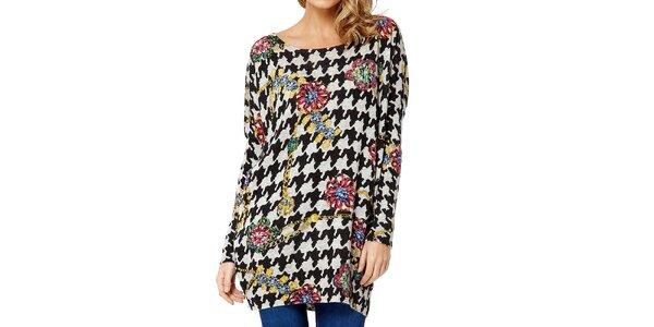 Dámsky farebný sveter s kohúťou stopou Miss Jolie