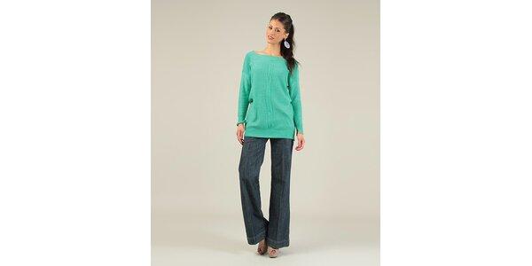 Dámsky zelený sveter s prekrýženým chrbtom Lili Lovely