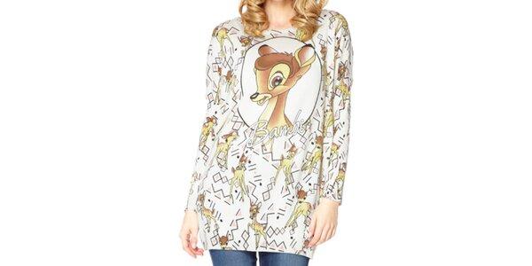 Dámsky dlhý sveter s Bambi Miss Jolie