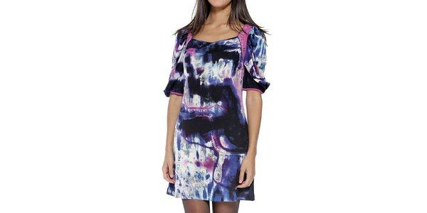 Dámske farebne vzorované šaty s krátkym rukávom Peace&Love
