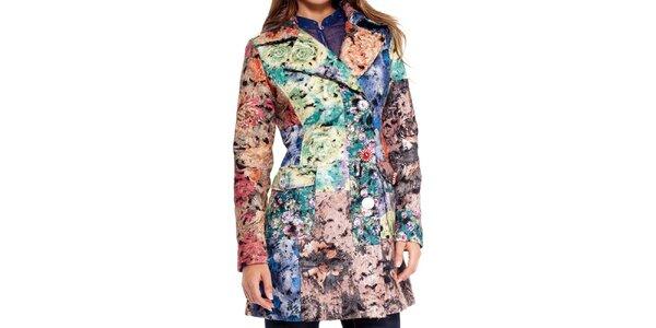 Dámsky farebne vzorovaný kabátik Peace&Love