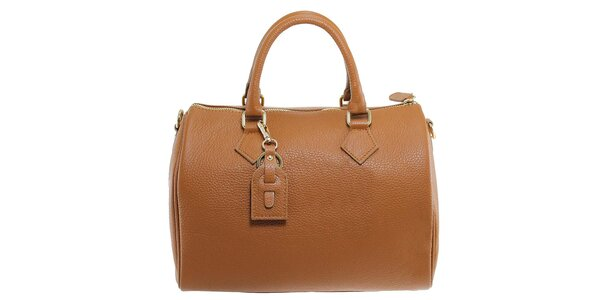 Dámska hnedá kožená kabelka Florence Bags