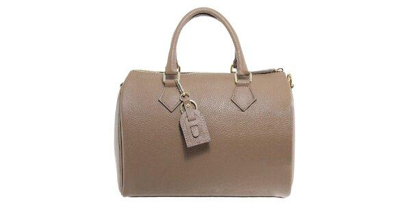 Dámska šedohnedá kožená kabelka Florence Bags