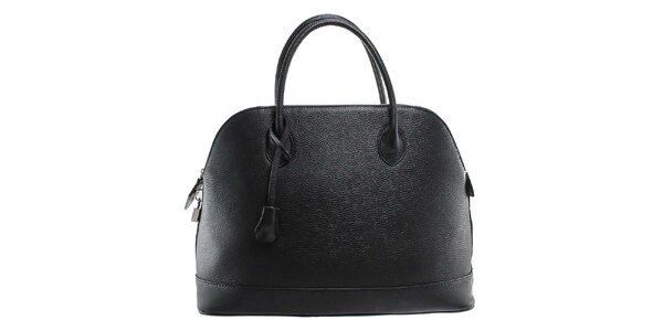 Dámska čierna kožená kabelka s odnímateľným popruhom Florence Bags