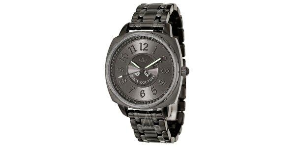 Dámske šedé hodinky z ocele Juicy Couture