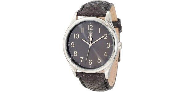 Dámske analógové hodinky s koženým remienkom Juicy Couture