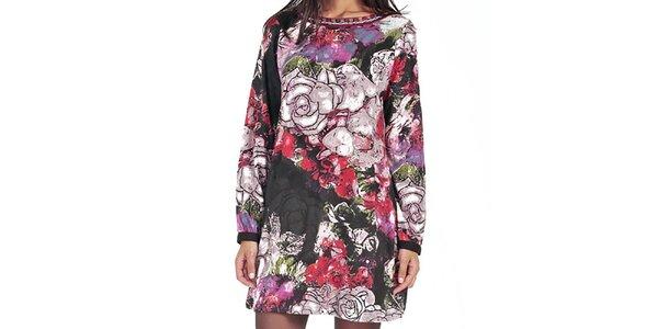 Šaty so vzorom ruže Peace&Love