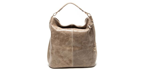 Dámska béžová kabelka s jedným uchom Luisa Vannini