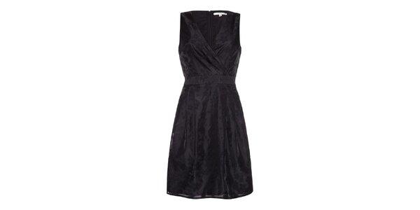Dámske lesklé čierne šaty Uttam Boutique