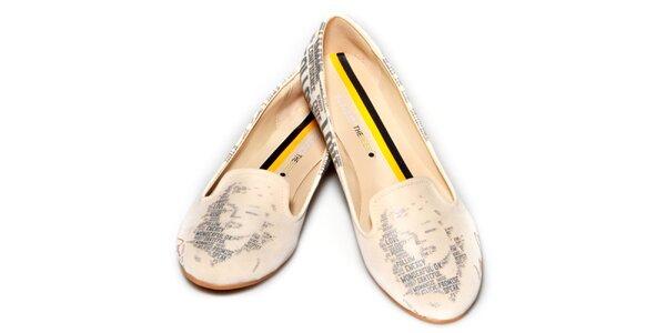 Dámske púdrové loafers s Marylin The Bees