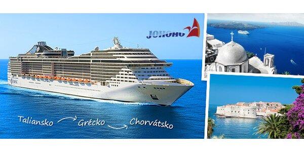 Luxusná plavba / Taliansko, Grécko, Chorvátsko