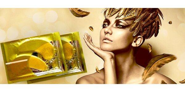 Zlatá kolagénová maska proti vráskam pod oči pre ženy
