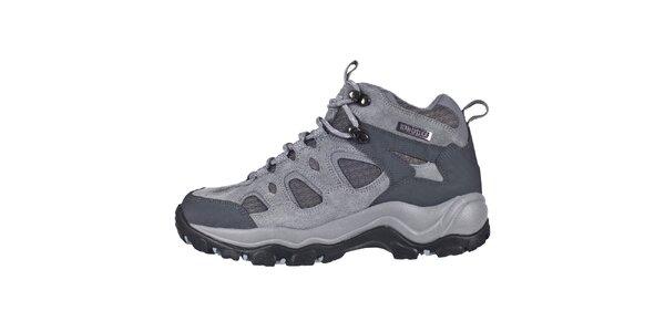 Dámske šedé trekové topánky Trespass