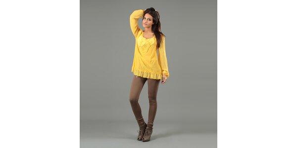 Dámska žltá blúzka s dlhými rukávmi Anabelle