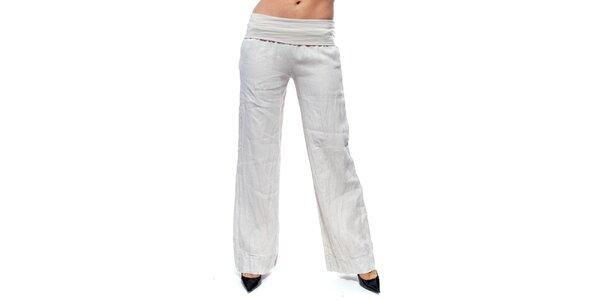 Dámske béžové ľanové nohavice Trois Quatorze