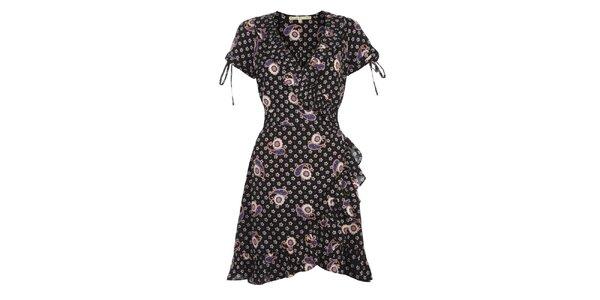 Dámske čiernobiele šaty s volánmi Uttam Boutique