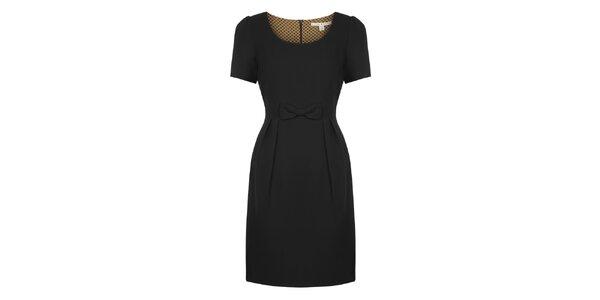 Dámske čierne šaty s mašličkou Uttam Boutique