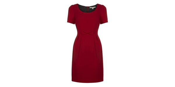 Dámske červené šaty s mašličkou Uttam Boutique