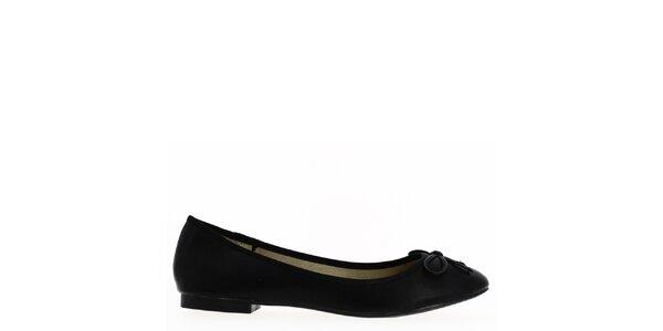 Dámske čierne baleríny s mašľou Shoes and the City