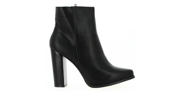 Dámske čierne členkové topánky Shoes and the City