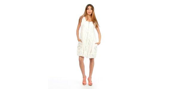 Dámske biele šaty na zips Anabelle