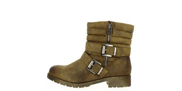 Dámske prešívané členkové topánky so zipsom Shoes and the City
