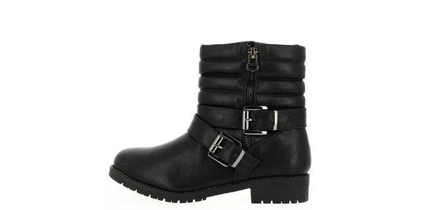 Dámske čierne členkové topánky so zipsom Shoes and the City