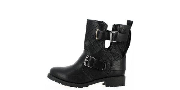 Dámske čierne prešívané topánky s prackami Shoes and the City