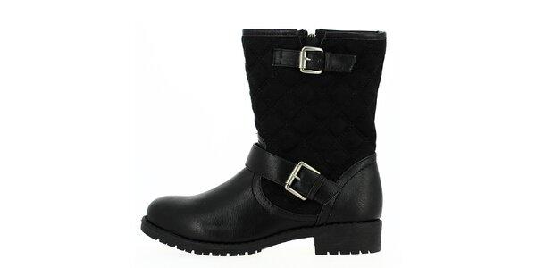 Dámske čierne topánky na zips Shoes and the City