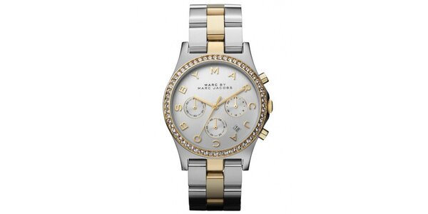 Dámske dvojfarebné hodinky so zirkónmi Marc Jacobs