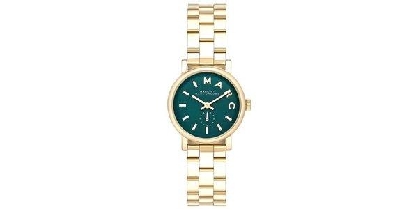 Dámske zlaté hodinky s čiernym ciferníkom Marc Jacobs