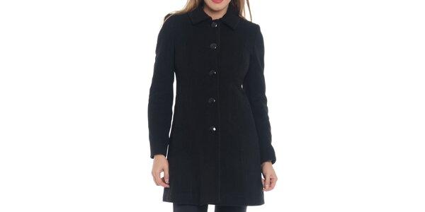 Dámsky čierny kabát s gombíkmi Vera Ravenna