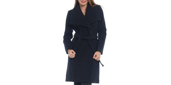 Dámsky tmavo modrý kabát s opaskom Vera Ravenna