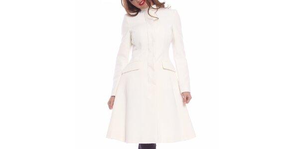 Dámsky snehobiely priliehavý kabát Vera Ravenna