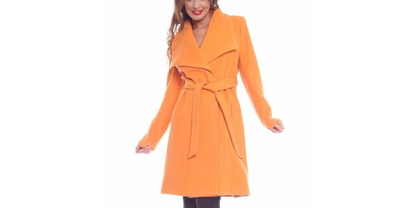 Dámsky broskyňový kabát Vera Ravenna