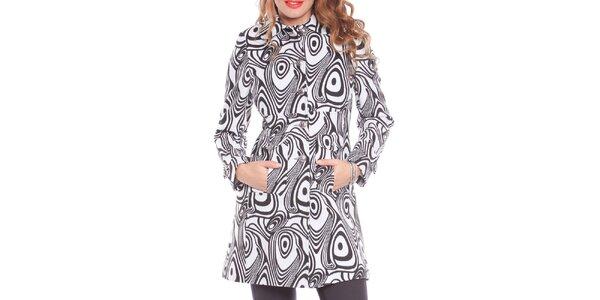 Dámsky bielo-čierny kabát Vera Ravenna