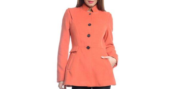 Dámsky oranžový krátky kabát Vera Ravenna