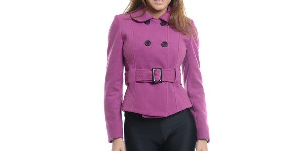 Dámsky fialový krátky kabátik Vera Ravenna