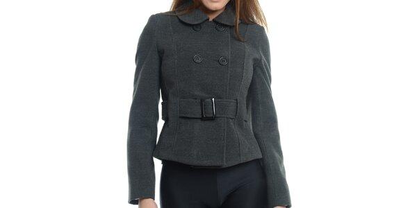 Dámsky tmavo šedý krátky kabátik Vera Ravenna
