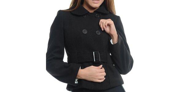 Dámsky čierny krátky kabátik Vera Ravenna