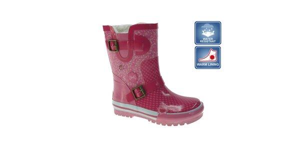 Dievčenské ružové gumáky Beppi s prackami