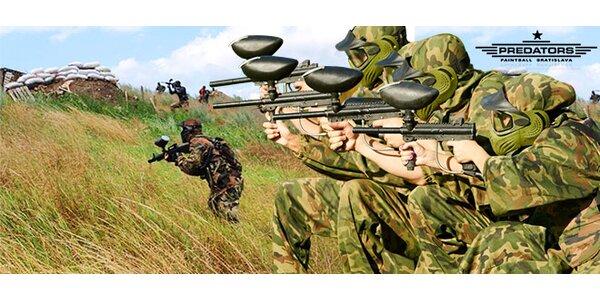 Paintball v štýle vojenských zákopových bojov