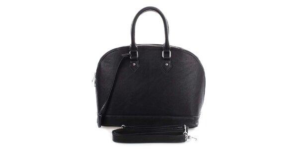 Dámska čierna bowlingová kabelka London Fashion