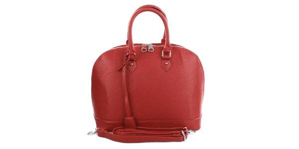 Dámska červená bowlingová kabelka London Fashion