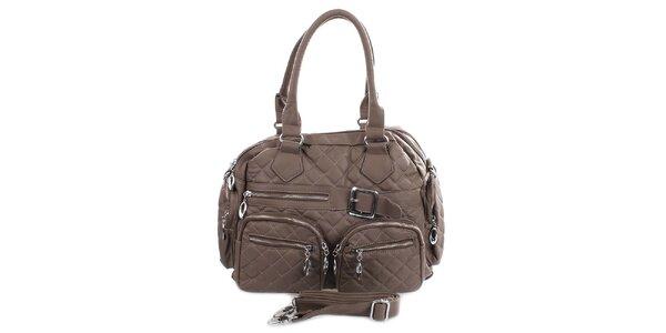 Dámska prešívaná kabelka s vreckami London Fashion