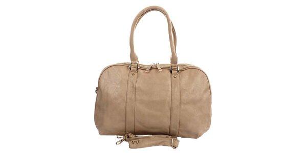 Dámska béžová kabelka London Fashion