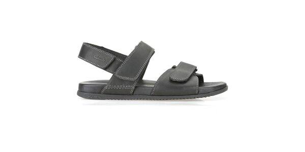 Pánske čierne sandále Clarks